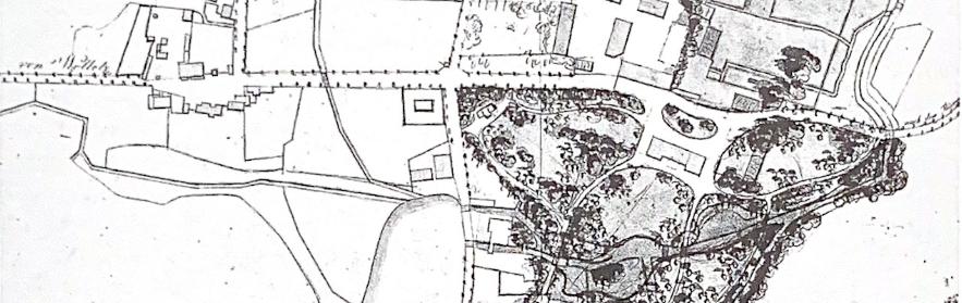 Ausschnitt aus der Entwurfszeichnung des Görlsdorfer Parks von CP Lenné