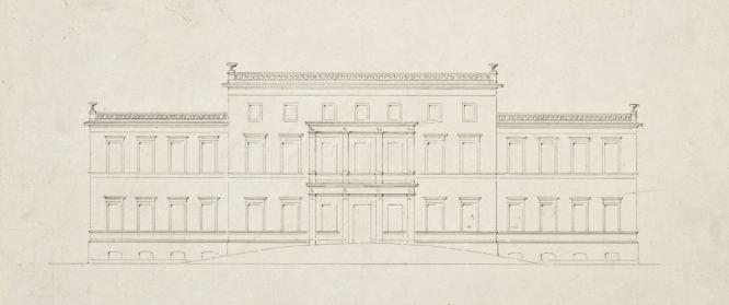 Entwurfszeichnung Schloss Görlsdorf 1843 von Eduard Knoblauch