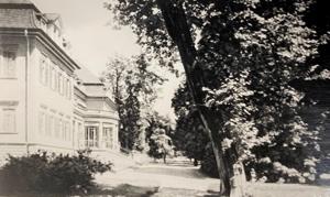 Schloss Görlsdorf Ansicht Gartenseite um 1920